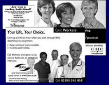 british nursing association recruitment advertising example